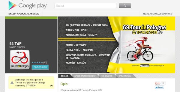 Tour de Pologne Smartfony