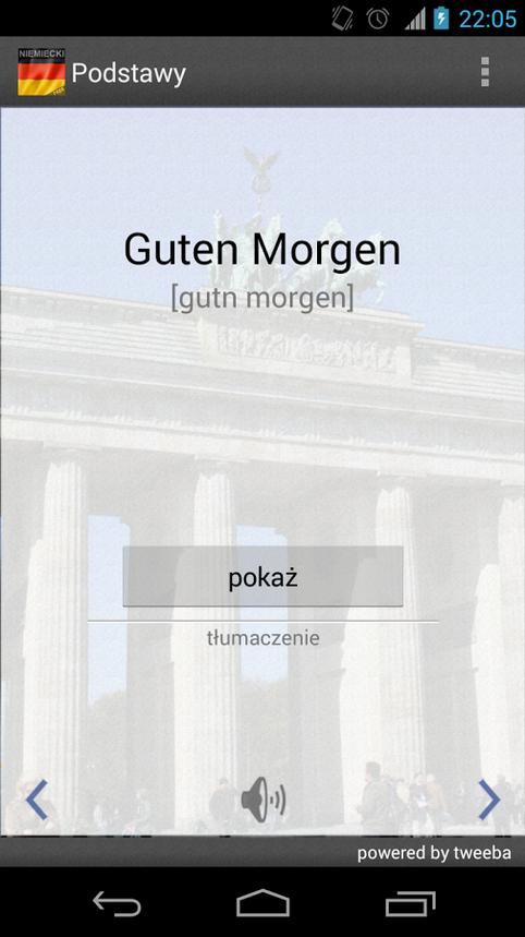 Niemiecki aplikacja mobilna