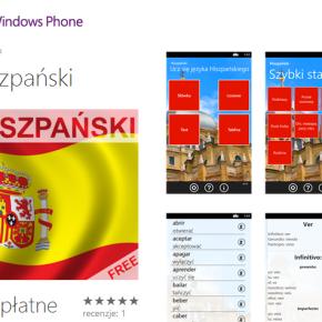 Kurs języka hiszpańskiego na Windows Phone