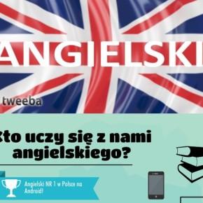 Infografika o aplikacji mobilnej do nauki angielskiego